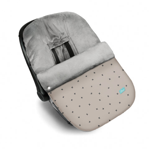 Snow Flake Baby Car Seat Cover - Beige