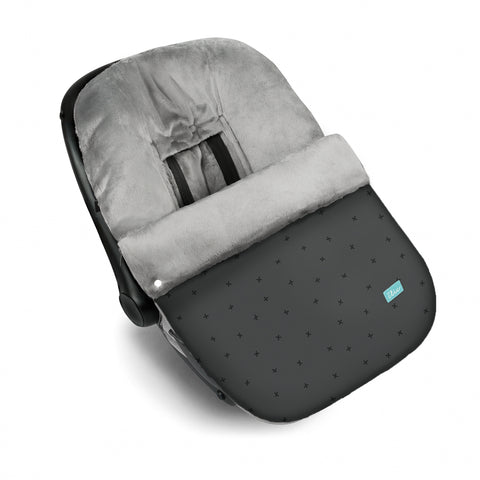 Snow Flake Baby Car Seat Cover - Grey
