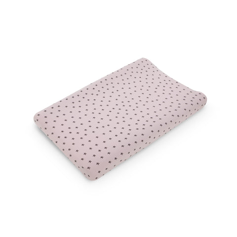 Little Star Contour Baby Changing Mat - Pink