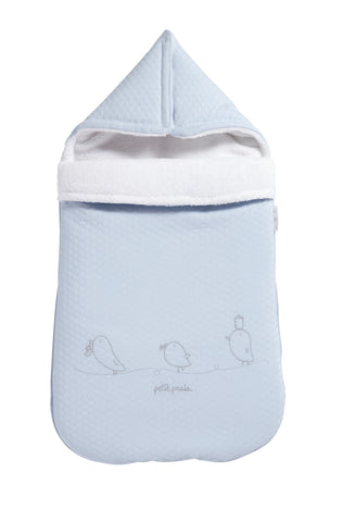 Piu Piu Baby Nest with Hood - Blue