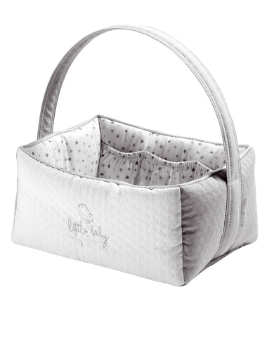 Piu Piu Nursery Basket - Grey