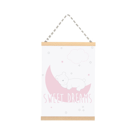 Sweet Dreams Wall Art - Pink
