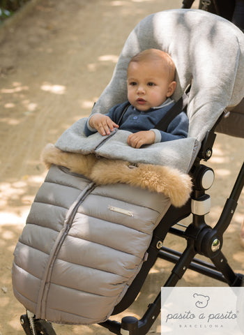 Aspen Universal Baby Footmuff - Grey - Amelia loves - 1