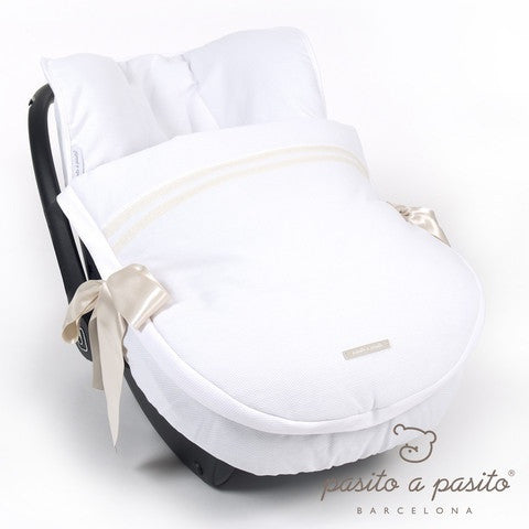 Atelier Baby Car Seat Cover White/Beige - Amelia loves - 1
