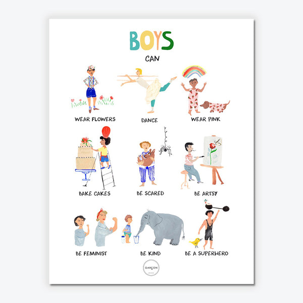 Boys can...-plakat str. 50x70cm