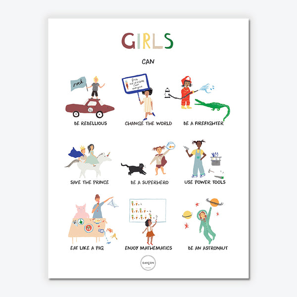 Girls can...-plakat str. 50x70cm.