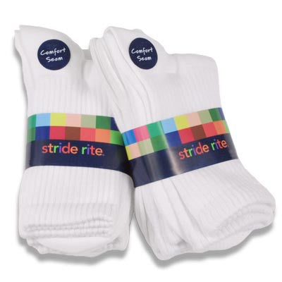 Seamless Crew Sock-3 Pack by Stride Rite