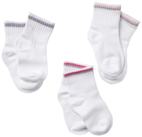 Stride Rite Quarter Sock with Colored Stripe 3 Pack