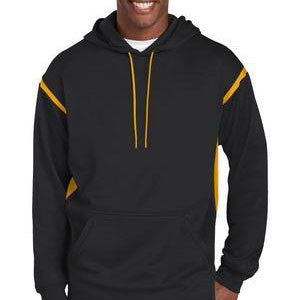 Sport-Tek Tech Fleece Colorblock Hooded Sweatshirt