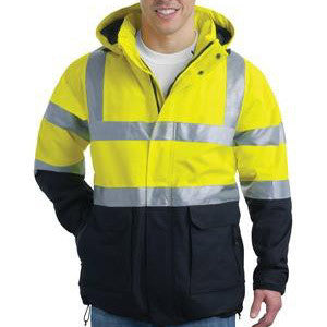 CornerStone ANSI 107 Class 3 Waterproof Heavyweight Parka Rain Jacket