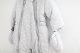 Baby's Grey Star Pattern Snowsuit