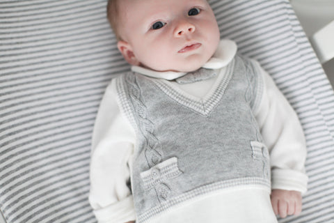 Boys Grey Sweater Vest Outfit