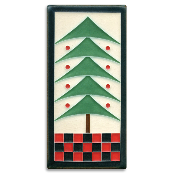 Holiday Tree Motawi Tile