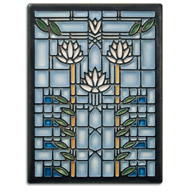 Frank Lloyd Wright 'Waterlilies' Motawi Tile