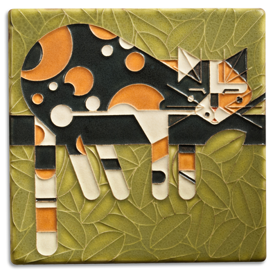 Charley Harper 'Limp on a Limb' Motawi Tile