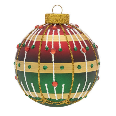 Elegant Holiday Lined Ornament