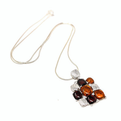 Four Square Amber Necklace