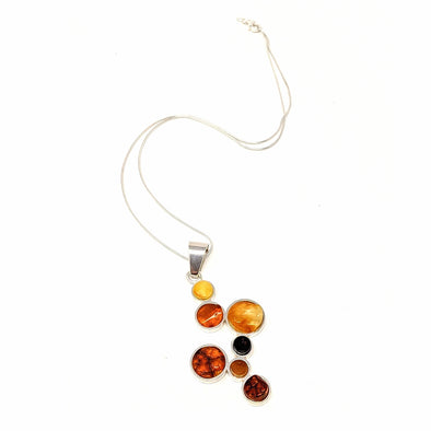 Amber Round Bezel Necklace