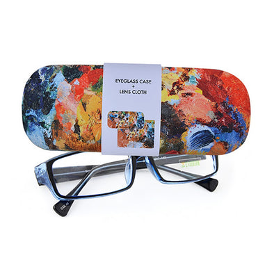Artist Palette Eyeglass Case + Lens Cloth