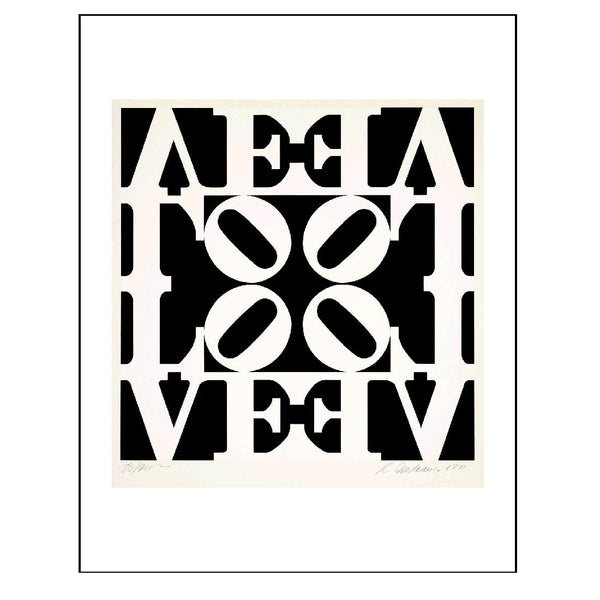 Robert Indiana 'Black and White LOVE' Boxed Note Cards