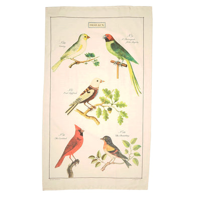 Vintage Birds Tea Towel