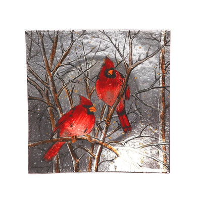 Cardinal Decorative Square Plate