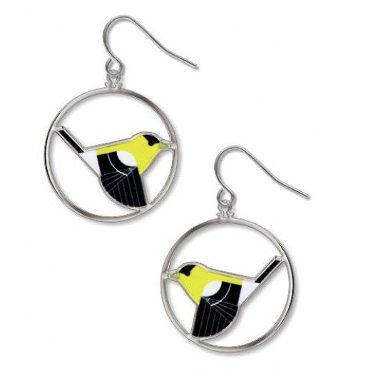 Charley Harper Goldfinch Earrings