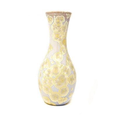 Adam Egenolf Cream & Yellow Crystalline Vase