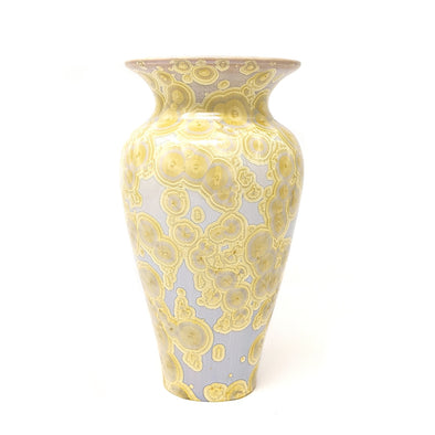 Adam Egenolf Cream &Yellow Crystalline Vase