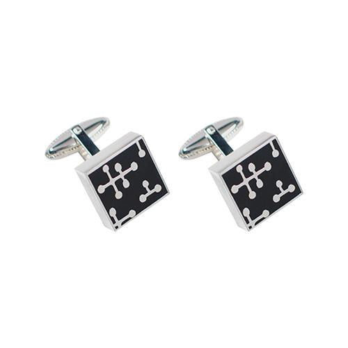 Eames Dots-Black Cufflinks