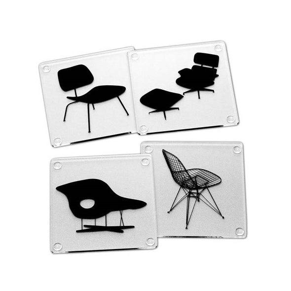Eames Chairs Acrylic Coaster Set