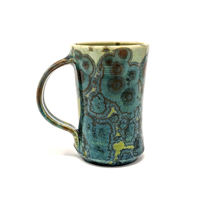 Adam Egenolf Teal & Green Crystalline Mug