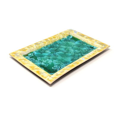 Adam Egenolf Yellow & Green Crystalline Tray