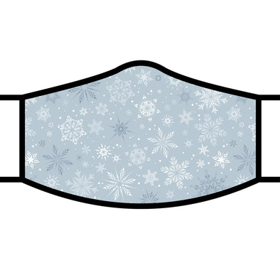 Silver Snowflakes Face Mask