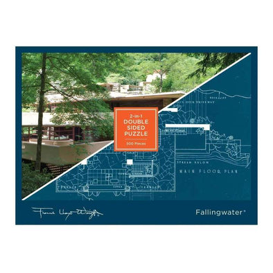 Frank Lloyd Wright Fallingwater Double-Sided Jigsaw Puzzle