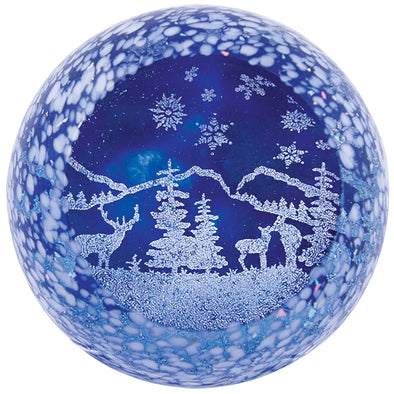 Winter Wonderland Glass Paperweight