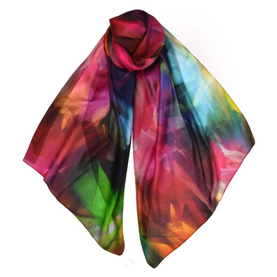 Georgette Colorful Silk Scarf