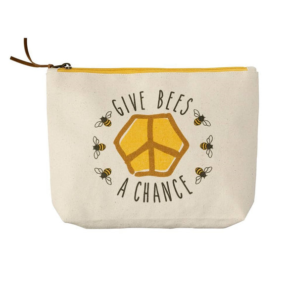 """Give Bees a Chance"" Pouch"