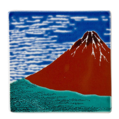 Hokusai, Red Fuji Tile