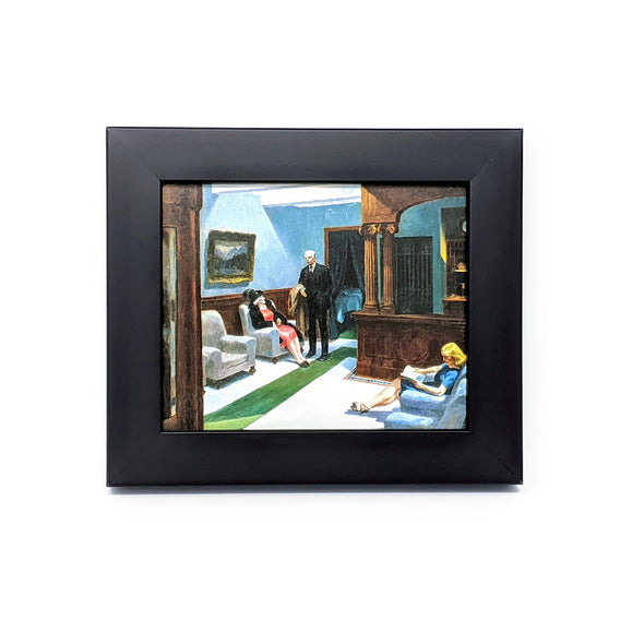 Edward Hopper 'Hotel Lobby' Framed Mini-Print