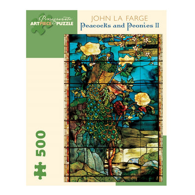 John La Farge Peacocks and Peonies II Jigsaw Puzzle