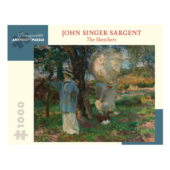 John Singer Sargent The Sketchers Jigsaw Puzzle