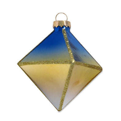 Blue and Gold Ombre Ornament