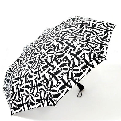 Black and White Love Umbrella