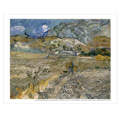 Vincent van Gogh 'Landscape at Saint-Remy (Landscape with Peasant)' Print