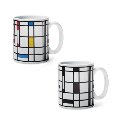 Piet Mondrian Design Color-Changing Mug