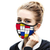 Mondrian Composition II Face Mask