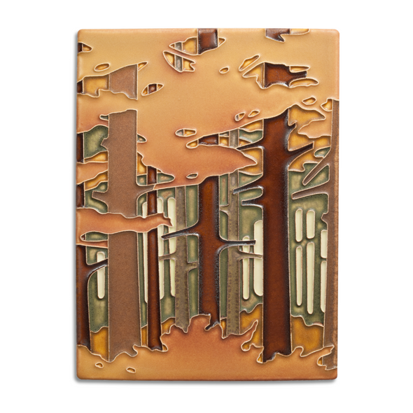Autumn Woodland Motawi Tile