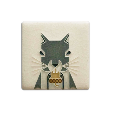 Charley Harper 'Squirrel' Mini Motawi Tile