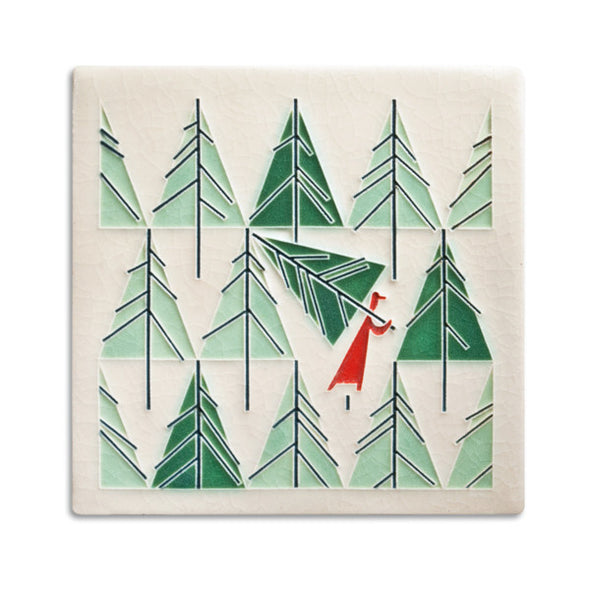 Charley Harper 'Perfect Tree' Motawi Tile